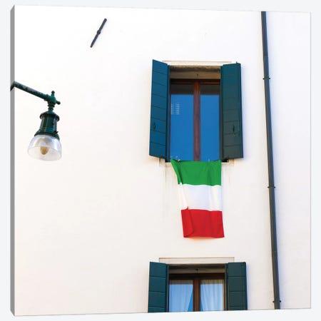 Venice, Italy, Italian Flag Canvas Print #PAU95} by Mark Paulda Art Print