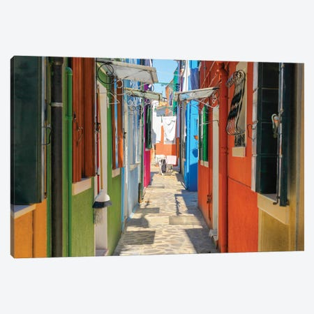 Burano, Italy Canvas Print #PAU97} by Mark Paulda Canvas Print