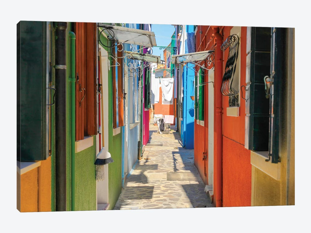 Burano, Italy by Mark Paulda 1-piece Canvas Print