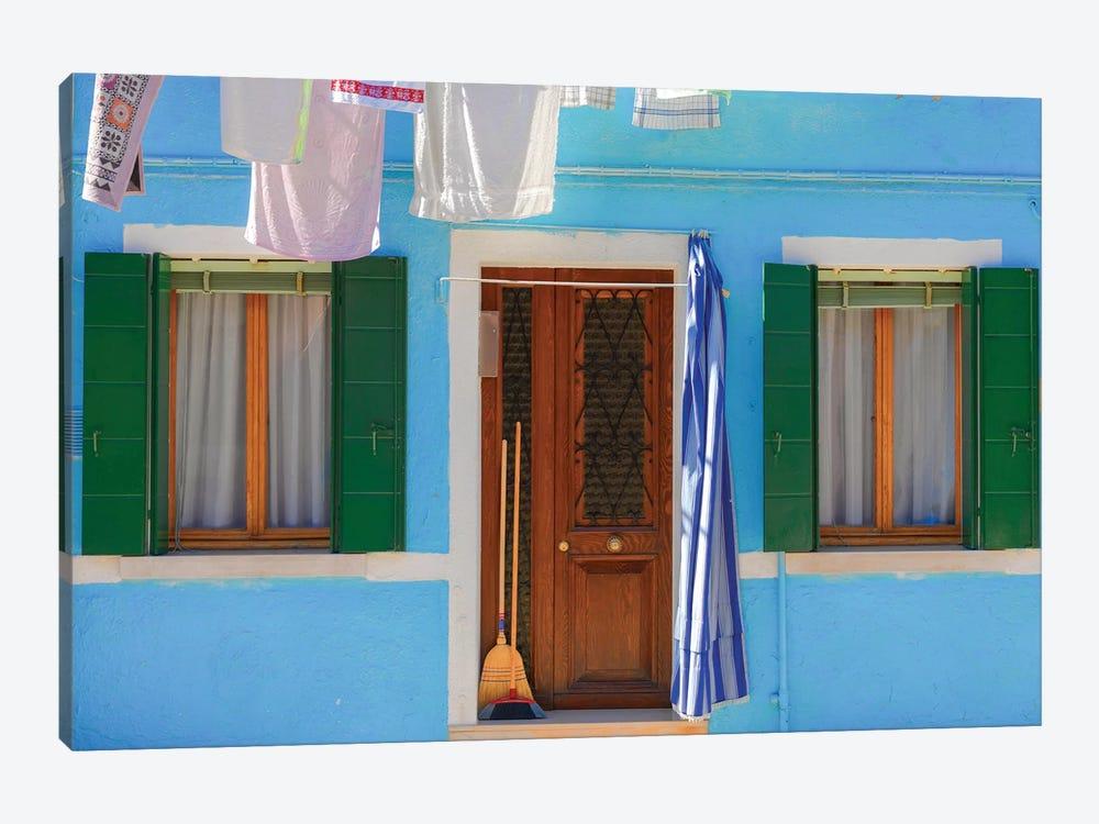 Burano, Italy, Blue House by Mark Paulda 1-piece Canvas Artwork
