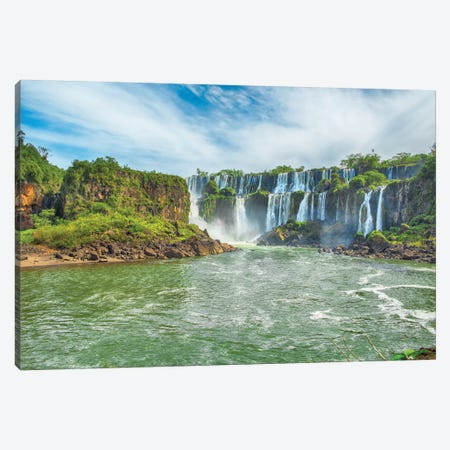 Iguazu Falls I 3-Piece Canvas #PAU9} by Mark Paulda Canvas Print