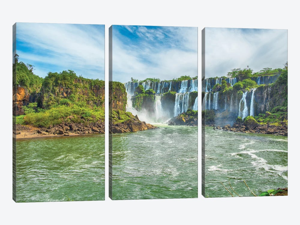 Iguazu Falls I by Mark Paulda 3-piece Canvas Art