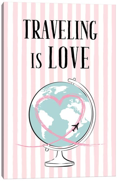 Traveling Is Love Canvas Art Print