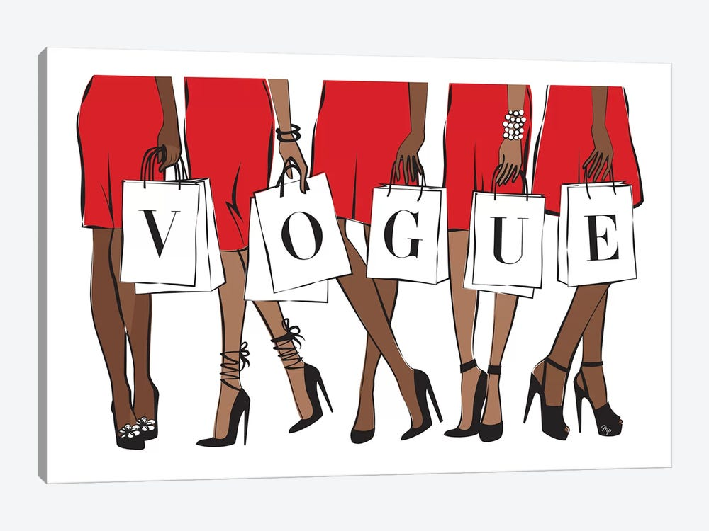 Vogue II by Martina Pavlova 1-piece Canvas Art Print
