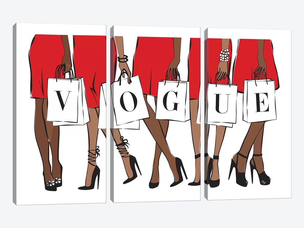 Vogue II by Martina Pavlova 3-piece Canvas Print