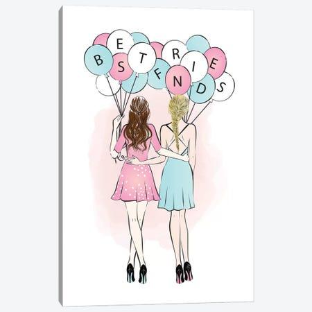 Best Friends I Canvas Print #PAV107} by Martina Pavlova Canvas Art Print
