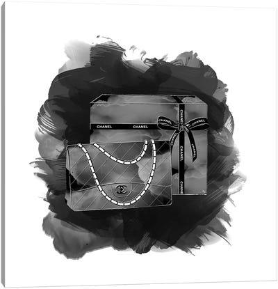Black Chanel Canvas Art Print