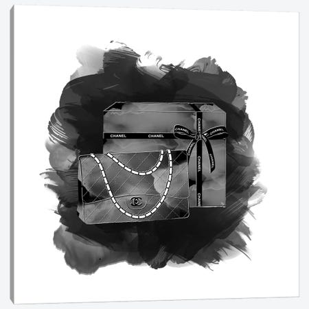 Black Chanel Canvas Print #PAV109} by Martina Pavlova Canvas Wall Art