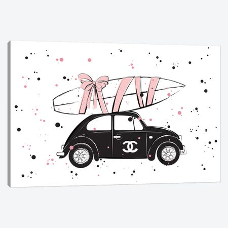 Chanel Car Canvas Print #PAV10} by Martina Pavlova Art Print