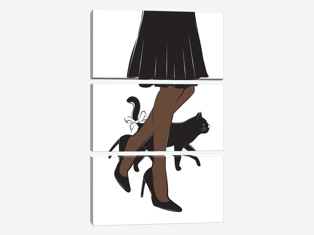 Cat II by Martina Pavlova 3-piece Art Print