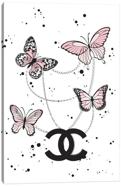 Chanel Butterflies II Canvas Art Print