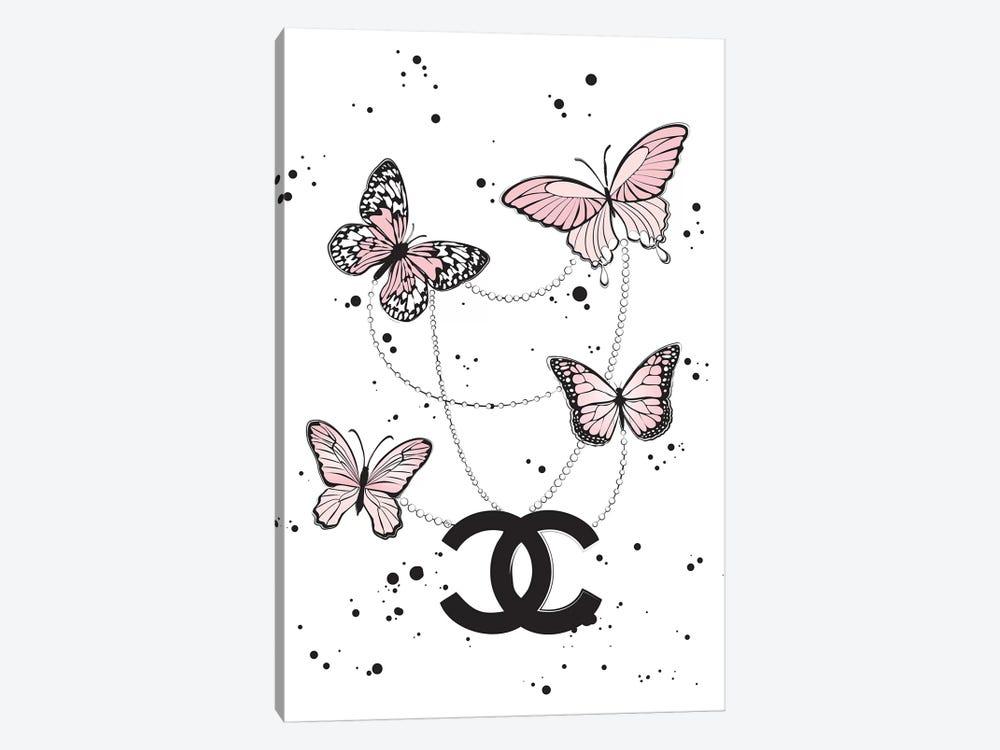 Chanel Butterflies II by Martina Pavlova 1-piece Canvas Print