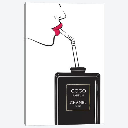Chanel Drink I Canvas Print #PAV118} by Martina Pavlova Art Print