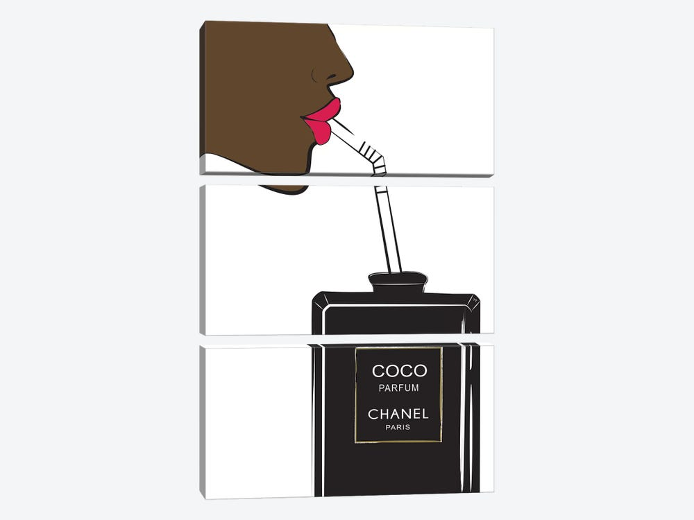 Chanel Drink II by Martina Pavlova 3-piece Canvas Print