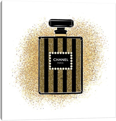 Chanel Glitters Canvas Art Print