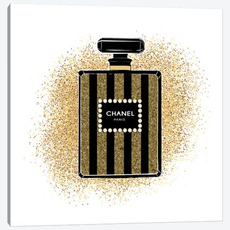 Chanel Glitters Canvas Print #PAV11} by Martina Pavlova Art Print