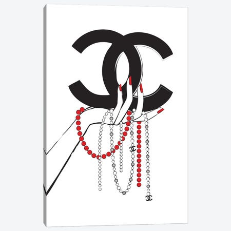Chanel Jewelry I Canvas Print #PAV120} by Martina Pavlova Canvas Wall Art