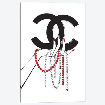 Chanel Jewelry I Canvas Print #PAV120} by Martina Pavlova Canvas Wall Art