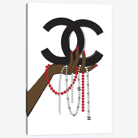 Chanel Jewelry II Canvas Print #PAV121} by Martina Pavlova Canvas Artwork