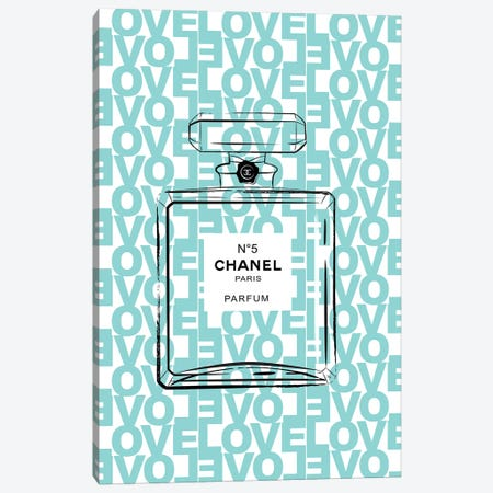 Chanel Love II Canvas Print #PAV122} by Martina Pavlova Canvas Wall Art