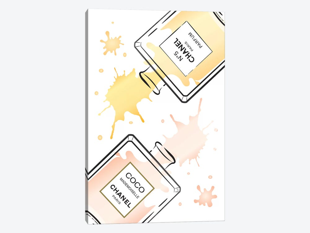 Chanel Perfumes II 1-piece Canvas Print