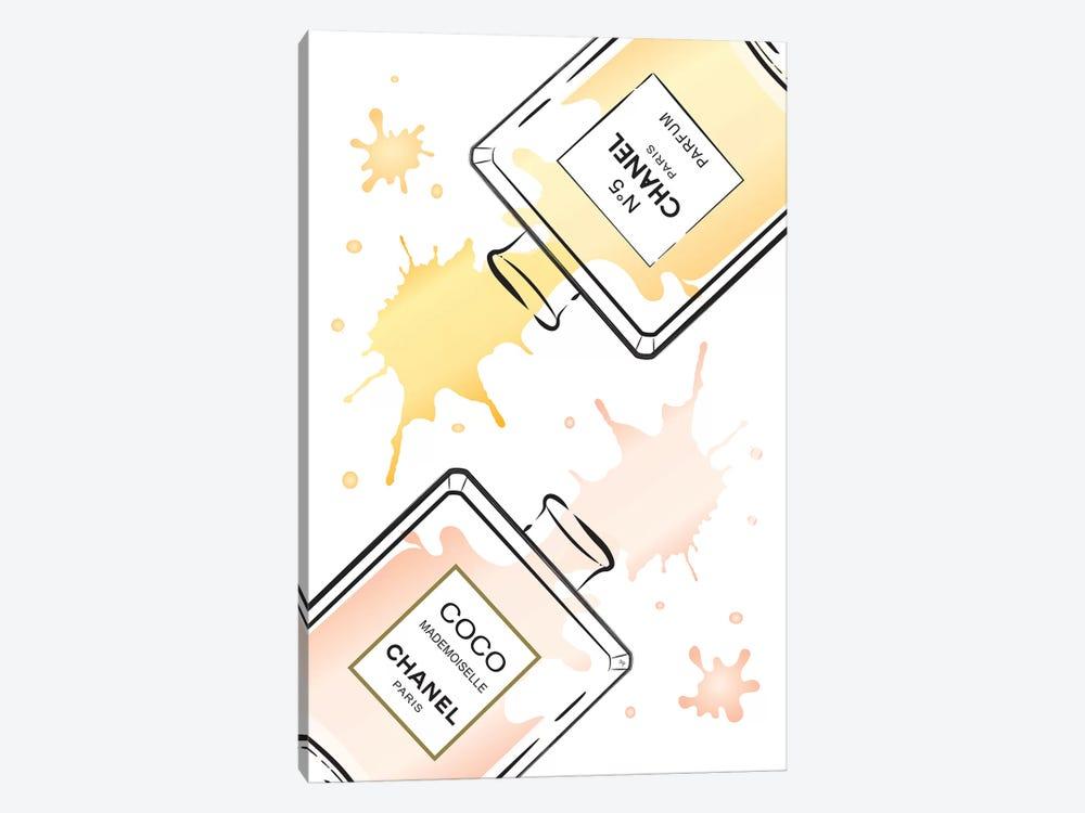 Chanel Perfumes II by Martina Pavlova 1-piece Canvas Print
