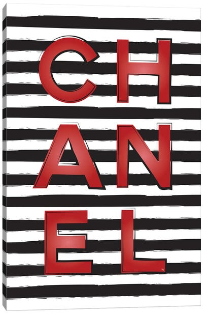 Chanel Stripes Canvas Art Print