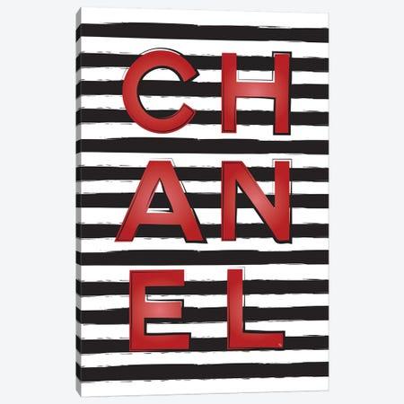 Chanel Stripes Canvas Print #PAV125} by Martina Pavlova Art Print
