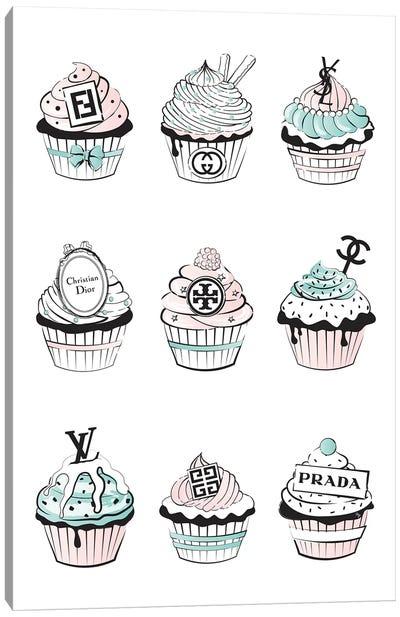 Designer Cupcakes  Canvas Art Print