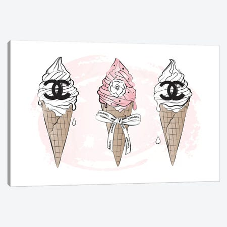 Chanel Ice Cream Canvas Print #PAV12} by Martina Pavlova Canvas Print