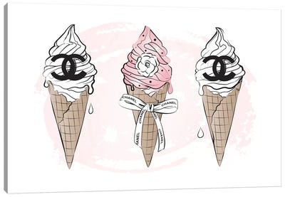 Chanel Ice Cream Canvas Art Print