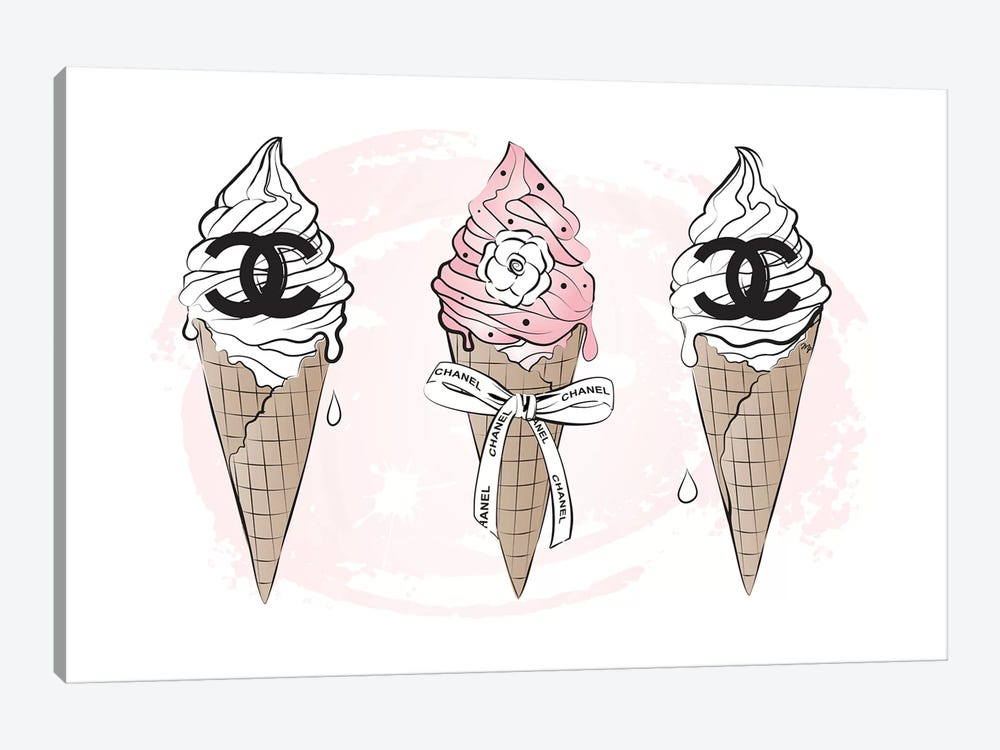 Chanel Ice Cream by Martina Pavlova 1-piece Canvas Artwork