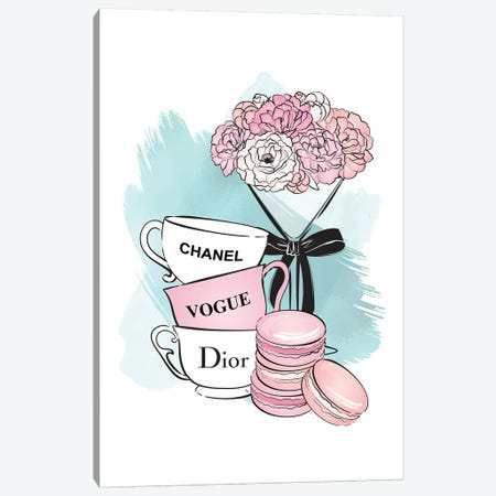 Designer Teatime Canvas Print #PAV130} by Martina Pavlova Canvas Print