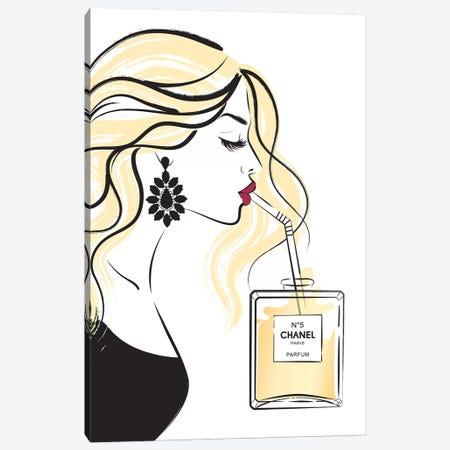 Girl Drink II Canvas Print #PAV136} by Martina Pavlova Canvas Art