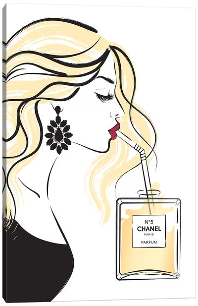 Girl Drink II Canvas Art Print
