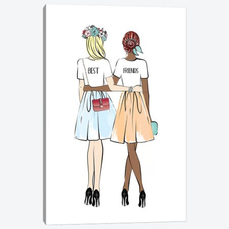 Girlfriends II Canvas Print #PAV138} by Martina Pavlova Canvas Art Print