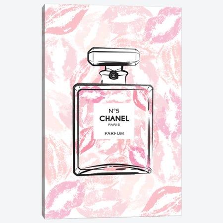 Chanel Kiss Canvas Print #PAV13} by Martina Pavlova Canvas Art Print