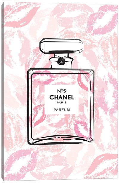 Chanel Kiss Canvas Art Print