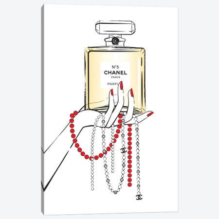 Holding Chanel I Canvas Print #PAV141} by Martina Pavlova Canvas Wall Art