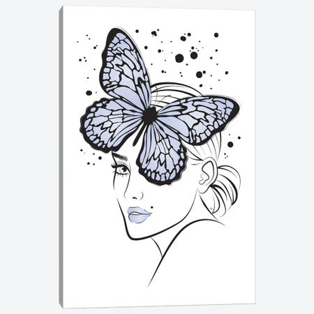 Lady Butterfly I Canvas Print #PAV143} by Martina Pavlova Canvas Wall Art