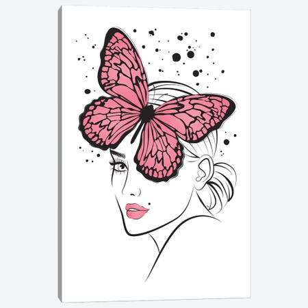 Lady Butterfly II Canvas Print #PAV144} by Martina Pavlova Canvas Print