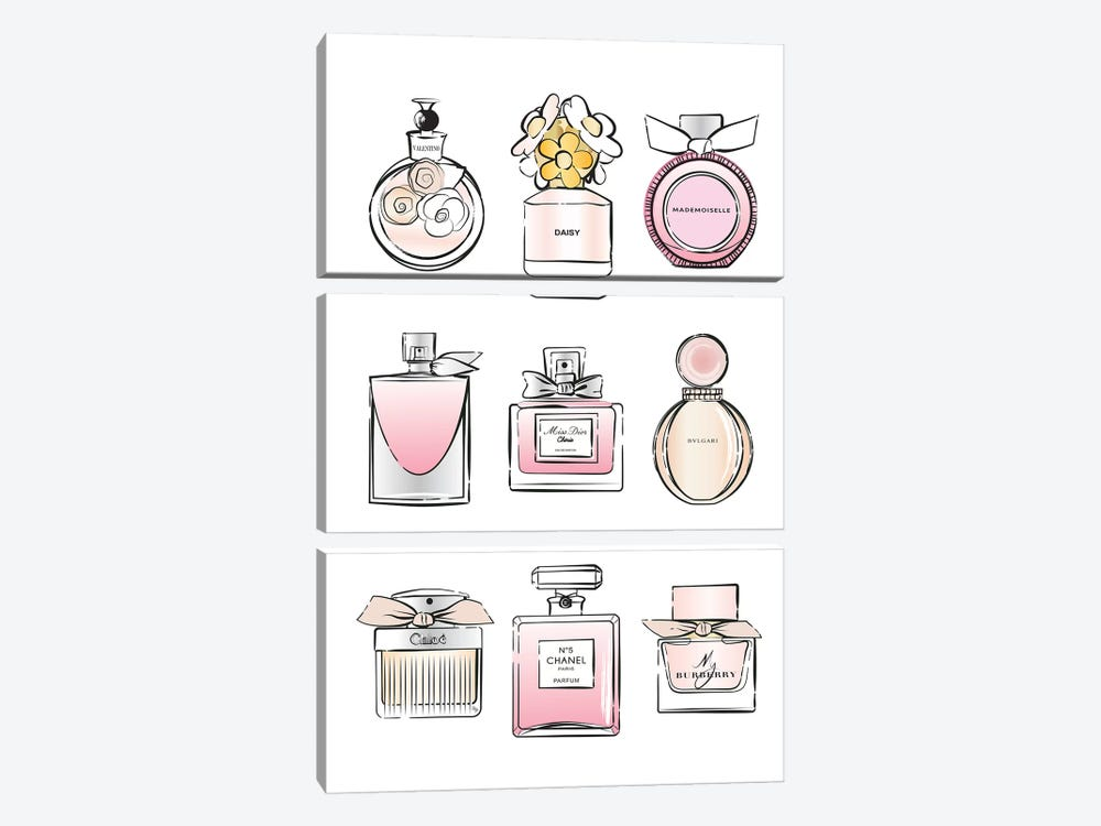 Perfumes 3-piece Canvas Wall Art