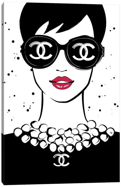 Chanel Lady I Canvas Art Print