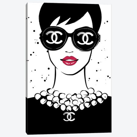Chanel Lady I Canvas Print #PAV14} by Martina Pavlova Canvas Art