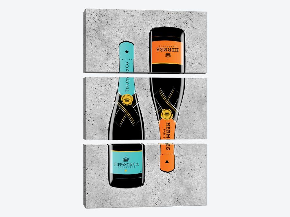 Bottles by Martina Pavlova 3-piece Canvas Art