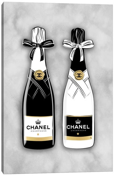 Chanel Bottles Canvas Art Print