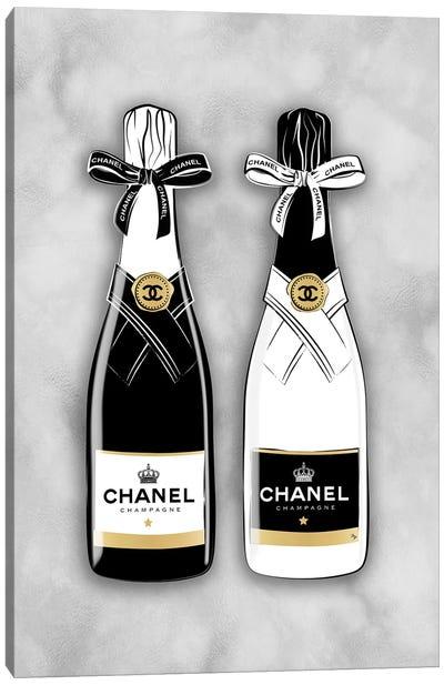 Chanel Bottles Canvas Art Print