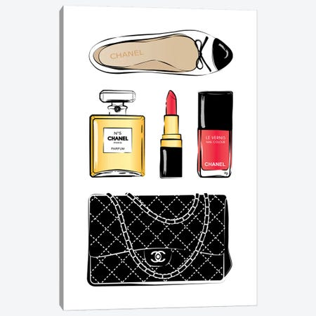Chanel Love Canvas Print #PAV15} by Martina Pavlova Canvas Artwork