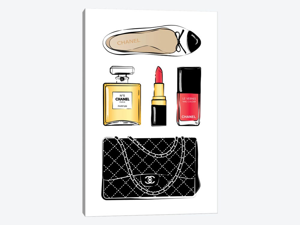 Chanel Love by Martina Pavlova 1-piece Canvas Print