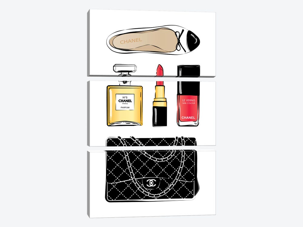 Chanel Love by Martina Pavlova 3-piece Art Print